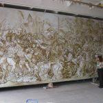 Копия картины Я. Матэйко Грюнвальдская битва