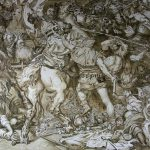 Копия картины Я. Матэйко Грюнвальдская битва, фрагмент
